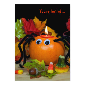Halloween Spider party 4.5x6.25 Paper Invitation Card