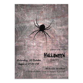 Halloween Spider Party Card