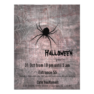 Halloween Spider Party Flyer