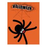 halloween spider post card