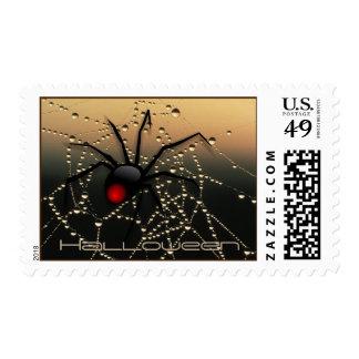 Halloween spider postage stamp