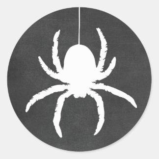 Halloween Spider Scary Black Chalkboard Stickers