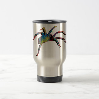 Halloween spider scary creepy crawly travel mugs