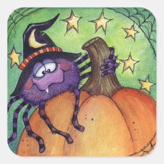 Halloween Spider Square Sticker