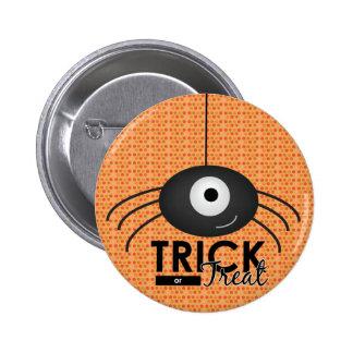 Halloween Spider Trick or Treat Button
