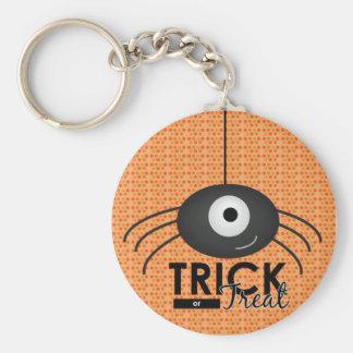 Halloween Spider Trick or Treat Key ring Basic Round Button Keychain