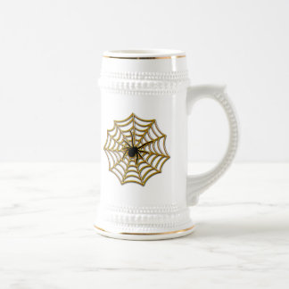 Halloween Spider Web Beer Stein
