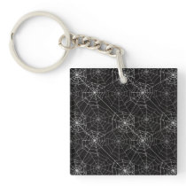Halloween Spider Web Pattern | Keychain