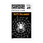 Halloween Spider Web Postage Stamp