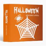 Halloween Spider & Web Scrapbook / Photo Album 3 Ring Binders