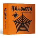 Halloween Spider & Web Scrapbook / Photo Album Binder