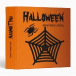 Halloween Spider & Web Scrapbook / Photo Album Vinyl Binder