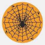 Halloween Spider Web Stickers