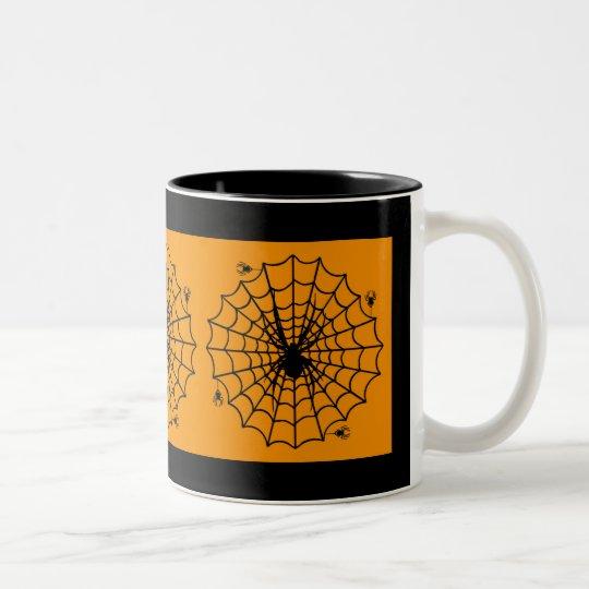 Halloween Spider Web Two-Tone Coffee Mug