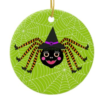 Halloween Themed Halloween Spider Witch Personalized Ceramic Ornament