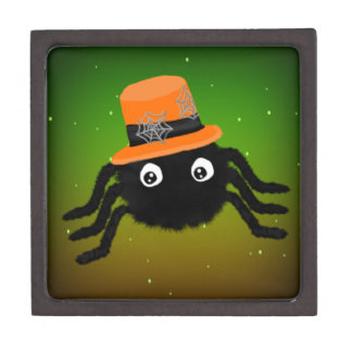 Halloween Spider With Top Hat Gift Box