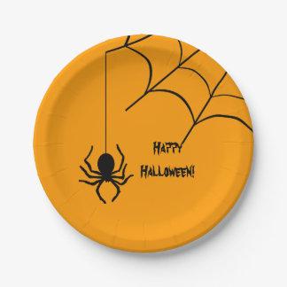 Halloween Spider with Web Orange Plate