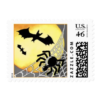 HALLOWEEN SPIDERS & BATS Custom Postage stamp
