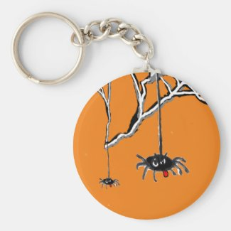 Halloween Spiders Cartoon Keychain