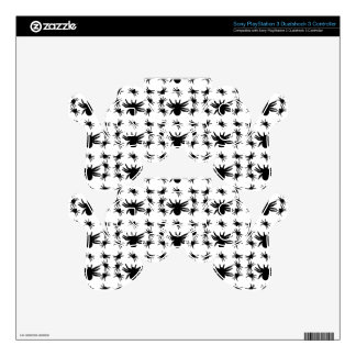 Halloween Spiders Grid Pattern PS3 Controller Decals