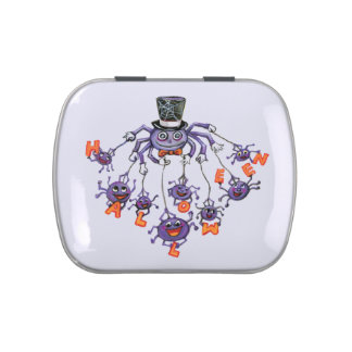 Halloween Spiders Jelly Belly Tin