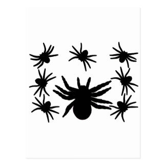 Halloween Spiders Postcard