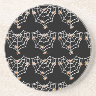 Halloween Spiderweb Coaster (Black)