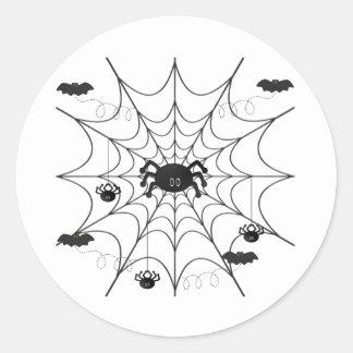Halloween spiderweb sticker