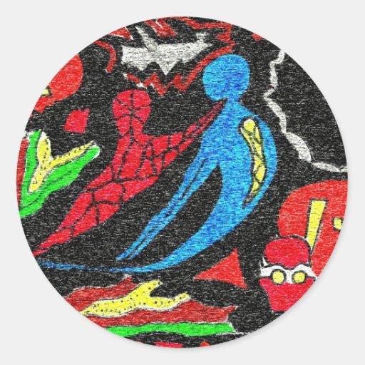 halloween spirits classic round sticker