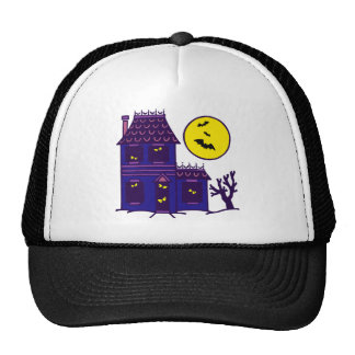 Halloween spook house striking Ted mansion Mesh Hat
