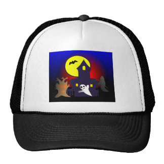 Halloween spook house striking Ted mansion Hat