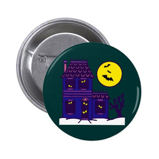 Halloween spook house striking Ted mansion Pins