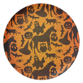 Halloween Spook Unicorn Plate