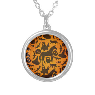 Halloween Spook Unicorn Silver Plated Necklace