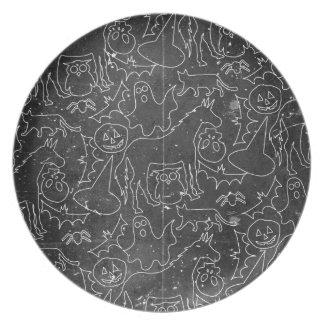 Halloween Spook Unicorn V02 Melamine Plate