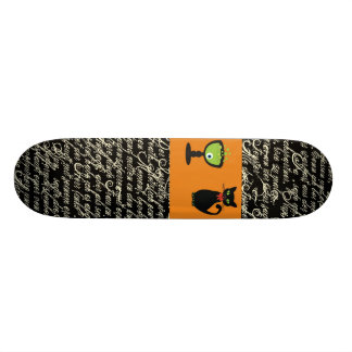 Halloween Spookey Writing with Orange Stripe Skateboard Decks