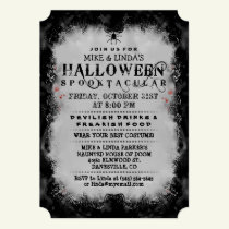 Halloween Spooktacular Black & Gray Gothic Invite