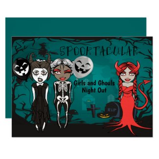 Halloween Spooktacular Girls And Ghouls Night Out Invitation