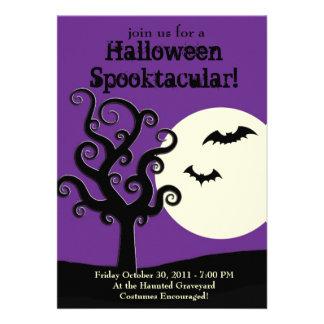Halloween Spooktacular- Purple Invitations