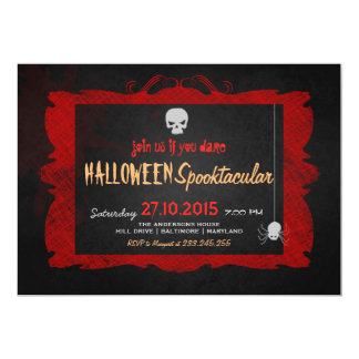 Halloween Spooktacular | Skll Spider Grunge Card