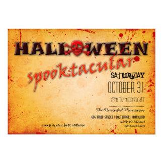Halloween Spooktacular Skull Bloody Vintage Custom Announcements