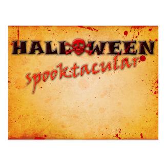 Halloween Spooktacular Skull Bloody Vintage Postcard