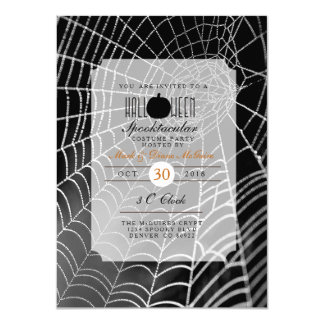 Halloween Spooktacular | Spider Web Party Invite