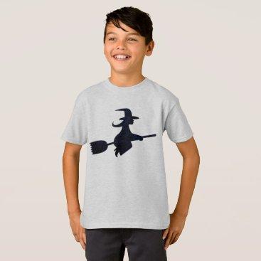 USA Themed Halloween Spooky Black Witch Costume Tee Shirt