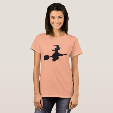 Halloween Themed Halloween Spooky Black Witch Costume Tee Shirt