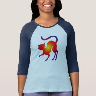 halloween spooky cat t-shirt design
