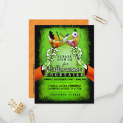 Halloween Spooky Cocktails Postcard Invitation