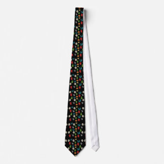 Halloween Spooky Cute Characters Glitter Collage Tie