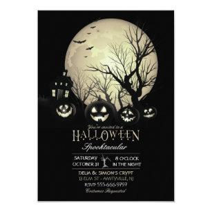 09bd289edf34c Halloween Spooky Dark Full Moon Jack O Lantern Invitation
