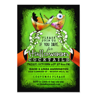 Halloween Spooky Drinks Cocktail Invitation